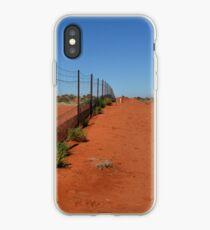 Dingo Fence - Cameron's Corner NSW/Qld/SA Australia iPhone Case
