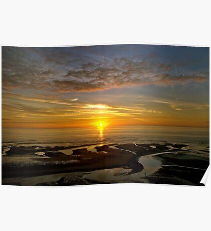 Bispham Sunset near Blackpool Poster