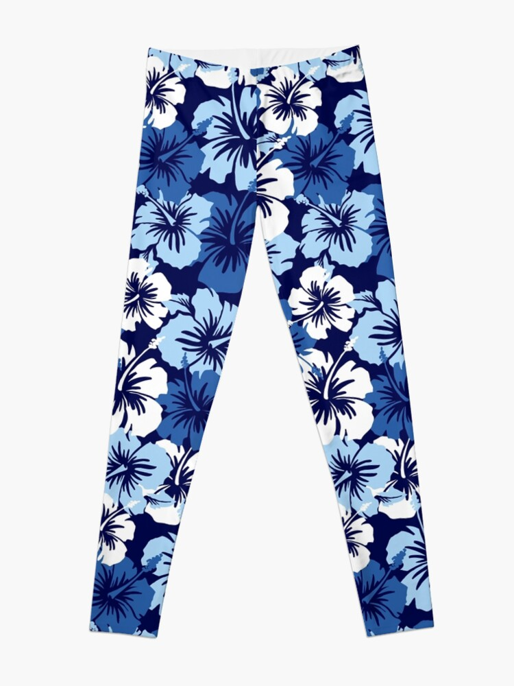816b5aee3e Epic Hibiscus Hawaiian Floral Aloha Shirt Print - Blue