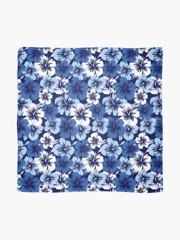 680ac70b6 Alternate view of Epic Hibiscus Hawaiian Floral Aloha Shirt Print - Blue  Scarf