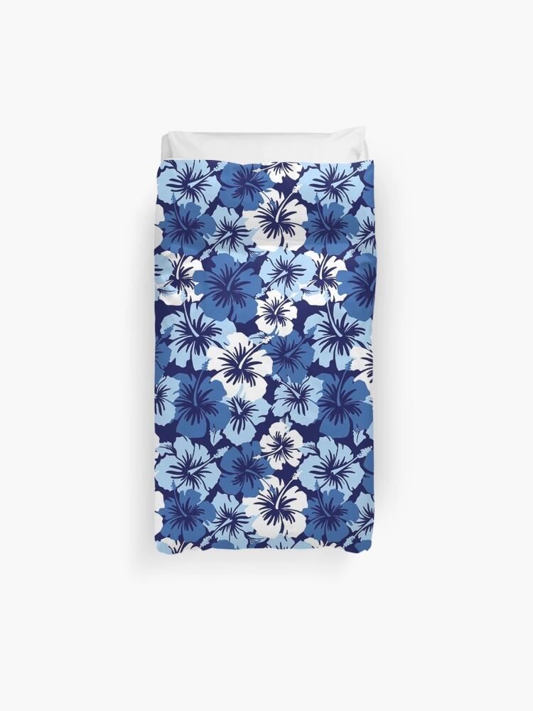 f41db8542 Epic Hibiscus Hawaiian Floral Aloha Shirt Print - Blue