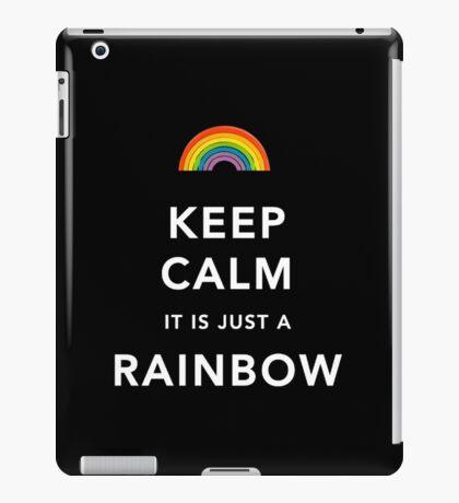 Keep Calm Is Just a Rainbow iPad Case/Skin
