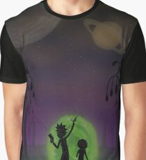Warriors Landscapes - Rick and Morty Graphic T-Shirt