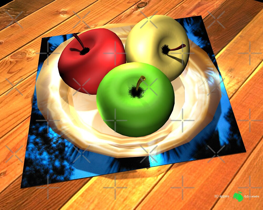 3D apples by GDabir