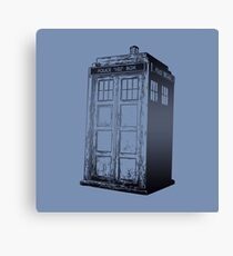 Doctor Who- Tardis Canvas Print