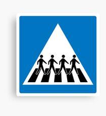 The Beatles Abbey Road Crosswalk Canvas Print