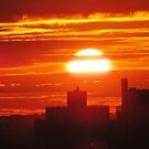 Autumn Sunset over New York City  by Alberto  DeJesus