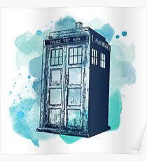 Inked up Tardis Poster