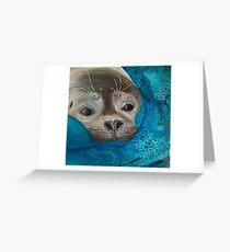 Seal Just a Peek Greeting Card