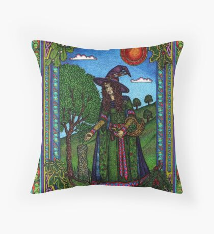 Yule Two, Evergreen (in Colour) Throw Pillow