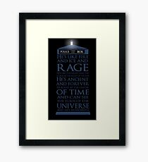 Dr Who Quote Framed Print