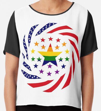 Love is Love American Flag 2.0 Chiffon Top