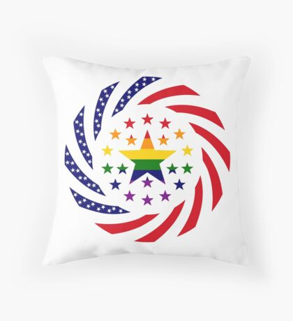 Love is Love American Flag 2.0 Throw Pillow