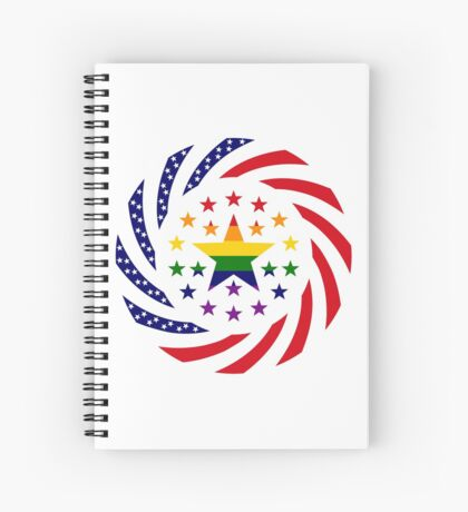 Love is Love American Flag 2.0 Spiral Notebook
