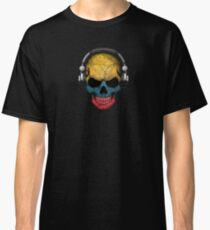 Dj Skull with Colombian Flag Classic T-Shirt