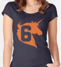 Unicorn Design - New York (Orange) Women's Fitted Scoop T-Shirt