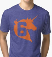 Unicorn Design - New York (Orange) Tri-blend T-Shirt