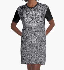 Escher Skull Graphic T-Shirt Dress