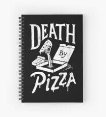 Death By Pizza Spiral Notebook