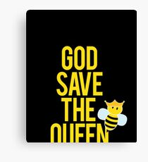 Beekeeper Gift God save the queen Canvas Print