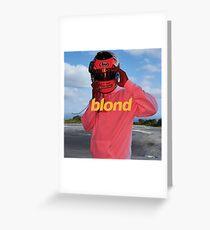 blond Greeting Card