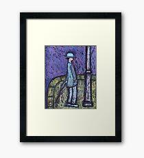 A man waiting Framed Print
