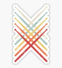 Percussion Marching Band Drum Sticks Sticker