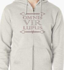 """Red Rising """"Omnis Vir Lupus"""" Shirt [WHITE] Zipped Hoodie"""