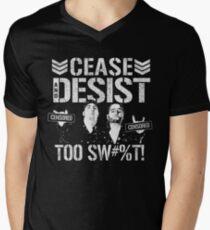 Desist t shirts redbubble cease desist mens v neck t shirt altavistaventures Choice Image