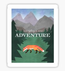 Everyday A New Adventure Sticker