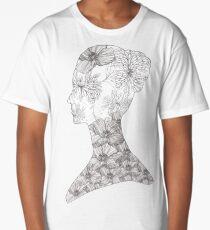 Avant Garde Floral Beauty Girl Long T-Shirt