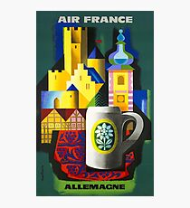 1963 Air France Germany  Allemagne Travel Poster Photographic Print