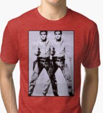 ELVIS : Vintage Restored Print Tri-blend T-Shirt