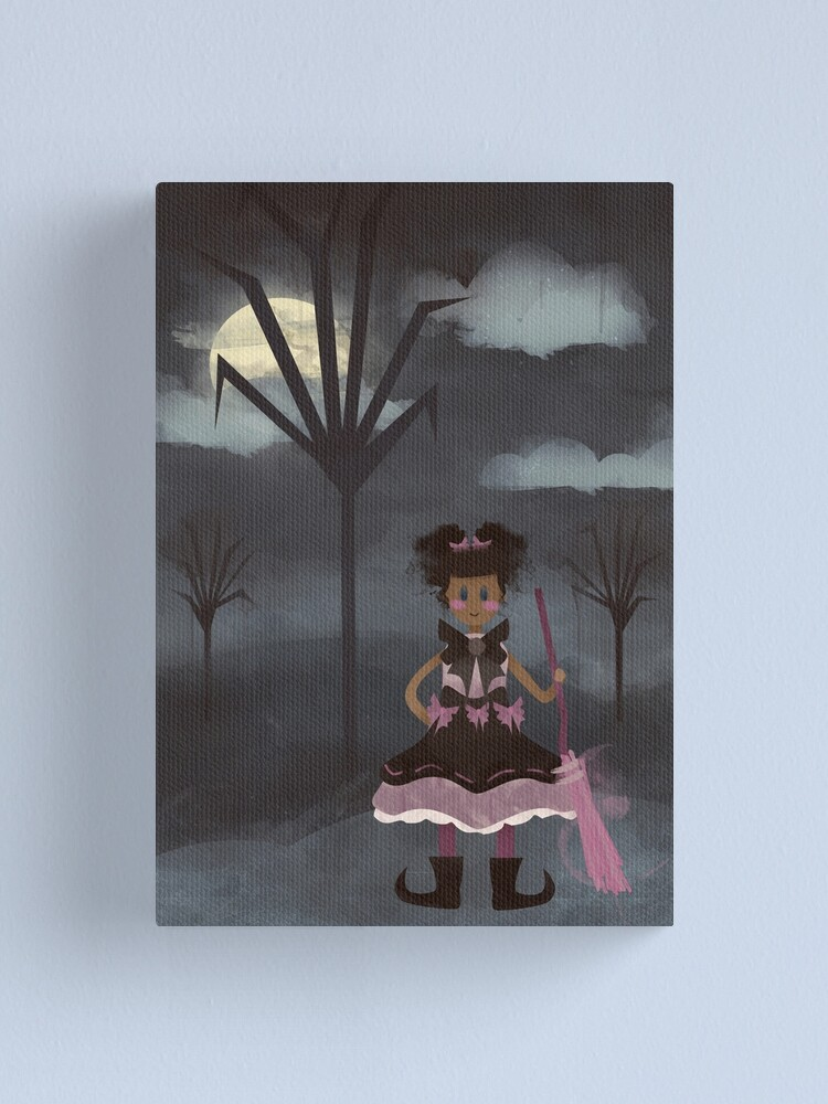 Alternate view of Tiny Witch Canvas Print