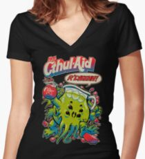 CTHUL-AID Women's Fitted V-Neck T-Shirt