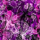 Wahine Lace Hawaiian Orchid Illustration - Pink, Violet and Black by DriveIndustries