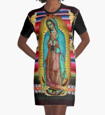 Our Lady of Guadalupe Virgin Mary Zarape 08 Graphic T-Shirt Dress