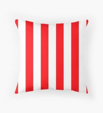 Wide Red and White Christmas Cabana Stripes Floor Pillow