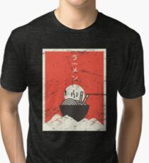 Vintage Japanese Anime Ramen Tri-blend T-Shirt