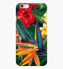 Tropical Paradise Hawaiian Birds of Paradise Illustration iPhone 6 Case