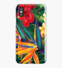 Tropical Paradise Hawaiian Birds of Paradise Illustration iPhone XS Case