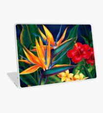 Tropical Paradise Hawaiian Birds of Paradise Illustration Laptop Skin