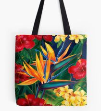 Tropische Paradies-hawaiische Paradiesvögel Illustration Tote Bag