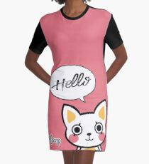 Hello - Moony Graphic T-Shirt Dress