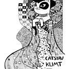 #meowdernart - Catstav Klimt by mariapaizart
