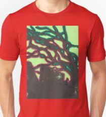 tree silhouettes (red and green glaze) Unisex T-Shirt