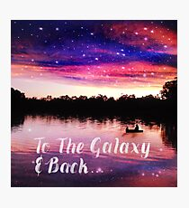To The Galaxy And Back  Photographic Print