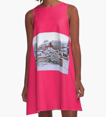 Jungfrau Schnee A-Linien Kleid