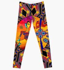 Girl With Kaleidoscope Eyes Leggings