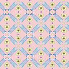 Feather Pattern on Blush Pink Field by Diane Costanza
